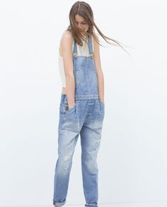 DENIM DUNGAREES-Jumpsuits-WOMAN | ZARA United States