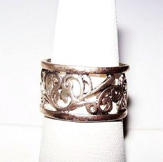 Abstract Celtic Heart Sterling Silver Ring by BrightgemsTreasures
