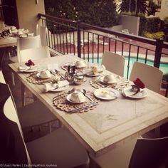 Breakfast at the Clarendon Fresnaye Boutique Guest House Cape Town Accommodation, Hotel Reviews, Table Settings, Dining Table, Boutique, Breakfast, House, Home Decor, Morning Coffee