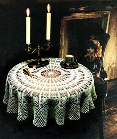PDF Vintage PINEAPPLE Tablecloth Crochet Pattern 1960s