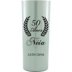 Copo Acrílico Personalizado Aniversário 50 Anos Prata - ArtePress | Brindes, Canecas, Copos de Acrílico Personalizado