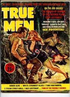 Cover pictures Nazi Dominatrix. American POW Wrestling for Power. True Men. Overall sound and complete pulp pinup men's magazine. w/slight old paper mildew odor. Sm corner faults. Overall sound copy. | eBay!