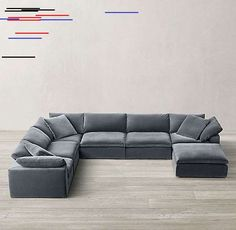 Cloud Modular U-Sofa Chaise Sectional Cloud Modular U-Sofa Chaise Sectional <br> Couch With Chaise, Chaise Sofa, Living Room Decor, Clouds, Hairstyle, Furniture, Home Decor, Drawing Room Decoration, Homemade Home Decor