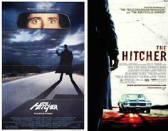 Most people hate the remakes of our beloved horror movies. Yes, most of them are crap, but at least some of the posters for the movies are an improvement. Horror Movie Posters, Movie Poster Art, Horror Films, Horror Art, Film Posters, The Hitcher, Movie Tv, Photo Galleries, The Originals