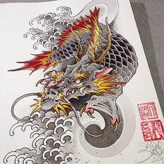 dragon koi   Dragon/Koi   Pinterest