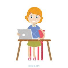 kid student character vector illustration #kid #character #cartoon #kidaha #onlinelearning Student Cartoon, Student Work, Home Projects, Tweety, Boy Or Girl, Things To Come, Clip Art, Learning, Illustration