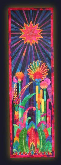 Night Garden - Pippa Moore: Textile Artist / Quiltmaker
