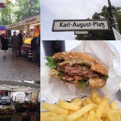 Mittagspause mit #Charlottenburger am Karl-August-Platz: #oomenmampft