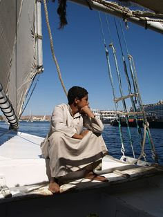 *EGYPT~Felucca on the Nile in Aswan