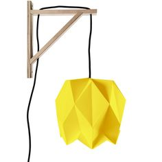 Along Came The Fold Blossom Bracket Lamp - Gold with Black Cord ($135) ❤ liked on Polyvore featuring home, lighting, wall lights, corded wall sconce, gold sconces, wall mounted lights, wall lamp and gold wall sconce