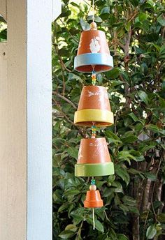 more terra cotta windchimes with instructions
