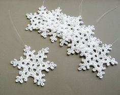 6 decorazioni natalizie Medium uncinetto T81 di CaitlinSainio