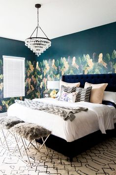 Lifestyle blogger Cara Loren teamed up with Lulu & Georgia to give her bedroom a beautifully moody makeover.