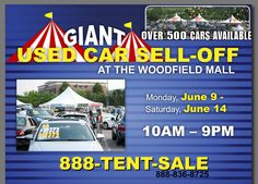 13 Best Giant Used Car Sell Off At Woodfield Mall Images On