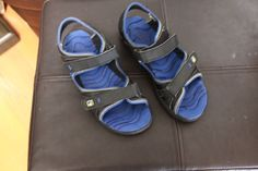 Sperry Blue Black Sandals Boys Sz 4 Youth Summer Resort Shoes Casual  #Sperry #Sandals