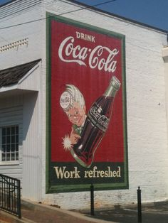 I love the Coca-Cola logo and colors.  Always have.
