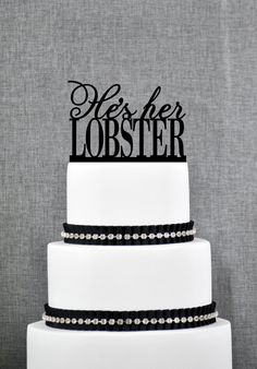 He's Her Lobster Cake Topper by Chicago Factory by ChicagoFactory, $15.00