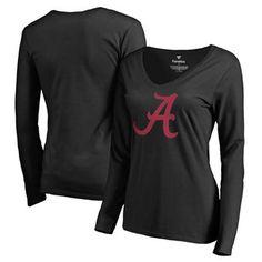 3cdc6b29b08 Alabama Crimson Tide Fanatics Branded Women s Primary Logo Long Sleeve T- Shirt - Black Alabama