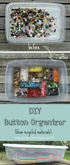 DIY Button Upcycled