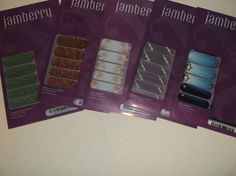 JAMBERRY  NAIL WRAPS LOT OF 5 NEW CHRISTMAS FROSTY SNOW SPARKLE HOLIDAY         #JAMBERRY
