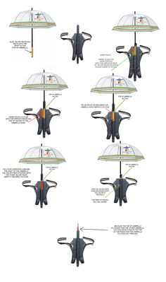 A hands free umbrella that I designed for people who have a lot to carry - or just for ease. When not in use, it become's a handy holder for any kind of bag.        SEE VIDEO:      http://www.youtube.com/watch?v=xEJIssv8Lkk    Nadddda