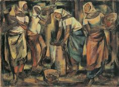 Artwork by Anita Magsaysay-Ho, Fruit Harvest, Made of oil on canvas Web Gallery Of Art, Oil On Canvas, Harvest, Fruit, Artwork, Painting, Drawing, Studio, Women
