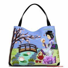 Nuova Collezione Braccialini linea Cartoline Modello Shopper Japanese Geisha