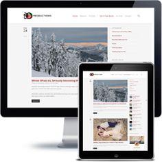 iDO Productions Blog Company website built with Wordpress using responsive web design.