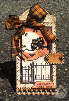 Hallowe'en Greetings Tag - Scrapbook.com