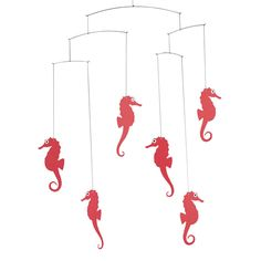Sea Horse mobile (red) by Flensted Mobiles