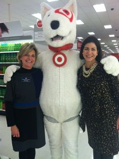 Tellis Shoemaker and Tricia Ford at the new Target ribbon cutting! They found Bullseye!