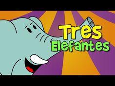 tres elefantes se balanceaban (canción infantil) - YouTube