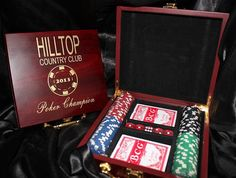 Personalized Poker Gift Set: Great for Groomsmen, Best Man, birthday's, anniversaries, guy's night, poker night and much more!   by CongratsDesigns