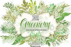 Watercolor GREENERY Cliparts