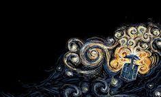 Doctor Who Van Gough Art Print by Elyse Notarianni