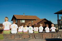 ourhomecreations: Family reunion shirts using heat transfer paper. Grandchildren have name and number on the back which refers to their birth order.