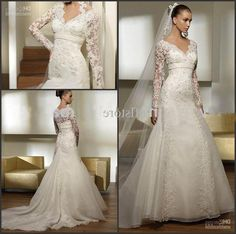 lace winter wedding dress