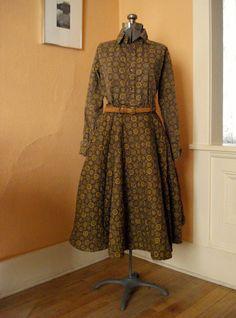 Vintage 1950s Circle Skirt Blouse Set Jonathan by bycinbyhand, $145.00