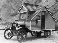 Could this be the world's first RV?! jeremylawson:  1926 Model T… homemade RV? I kinda like it.