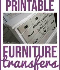 10+ Best Printable Transfers for Furniture – Free!