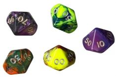 Philos Mnohostěnná hrací kostka K100 K% 10-stěnná procentní neon Runes, Dungeons And Dragons, Drake, Neon, Accessories, Neon Colors, Neon Tetra, Jewelry Accessories