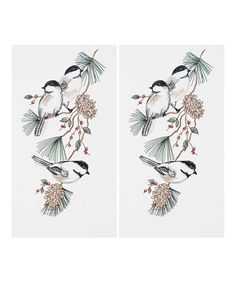 This Chickadees Towel - Set of Two is perfect! #zulilyfinds