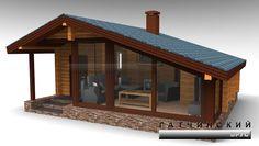 Нажмите чтобы посмотреть картинку, используйте мышь для перетаскивания. Используйте клавиши вперёд и назад Rest House, Tiny House Cabin, House In The Woods, House Roof Design, Cabin Design, Summer House Interiors, Sauna House, Weekend House, A Frame House