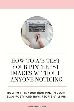 How to ab test your pinterest pins without anyone noticing #pinterestmarketing #marketing #socialmedia #pinterest #pinterestips Make Blog, How To Start A Blog, How To Make Money, Data Science, What Is Industry, Software, Hidden Images, Pinterest Images, Pinterest For Business