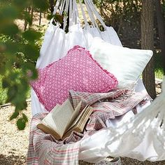 a hammock to lay in on a quiet spring or summer day and read