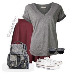 """""""Random Casual-ness"""" by modest-17 ❤ liked on Polyvore featuring Ally Fashion, Nation LTD and Converse"""