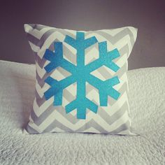For Vi's Bedroom- Frozen Inspired Bedroom theme! Snowflake Sparkle Pillow Cover Frozen Inspired by