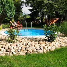 Rundbecken Gestaltung Pool In 2019 Pool Decks Backyard Und