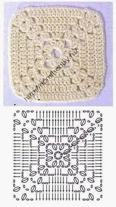 Love scrap use maybe that happens to all old knitters and crocheters lol jh crochet fox crochet gifts love crochet crochet granny crochet squares crochet lace crochet motif crochet stitches crochet patterns – ArtofitCal crochet in boom flower squar Crochet Motifs, Crochet Blocks, Granny Square Crochet Pattern, Crochet Diagram, Crochet Stitches Patterns, Crochet Chart, Crochet Squares, Crochet Granny, Diy Crochet