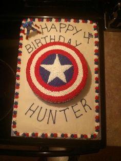 Captain America cake I made